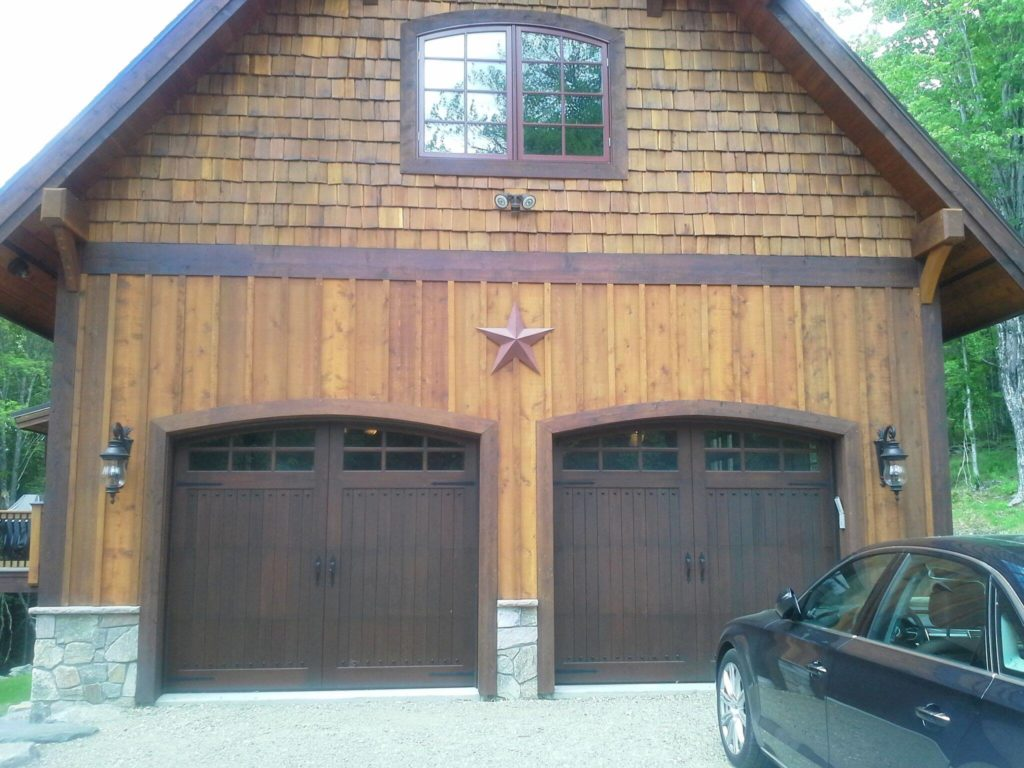 Residential garage door portfolio champion overhead door everett cedar carriage door install rubansaba