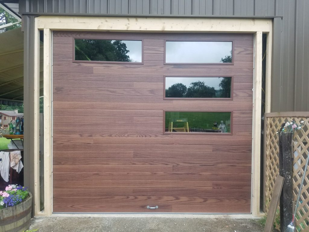 Residential garage door portfolio champion overhead door chi plank style door in hinsdale nh rubansaba