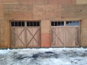 Cedar Faced C.H.I. Garage Doors in Grafton, VT