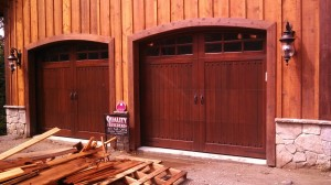 Installed Custom Wood Garage Doors