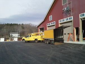 Installing 7 New Commercial Garage Doors in Wilmington, VT