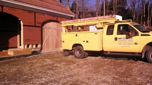 After Picture: Installing Cedar CHI Garage Doors in Windham, NH